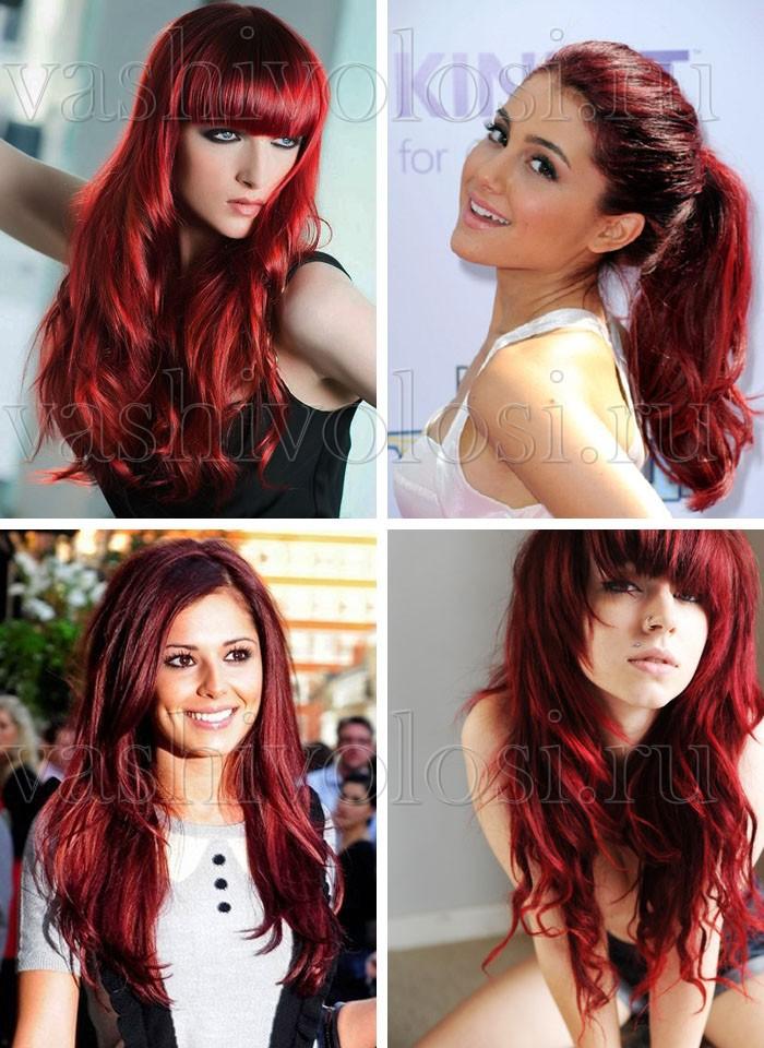 mørk rød hårfarve